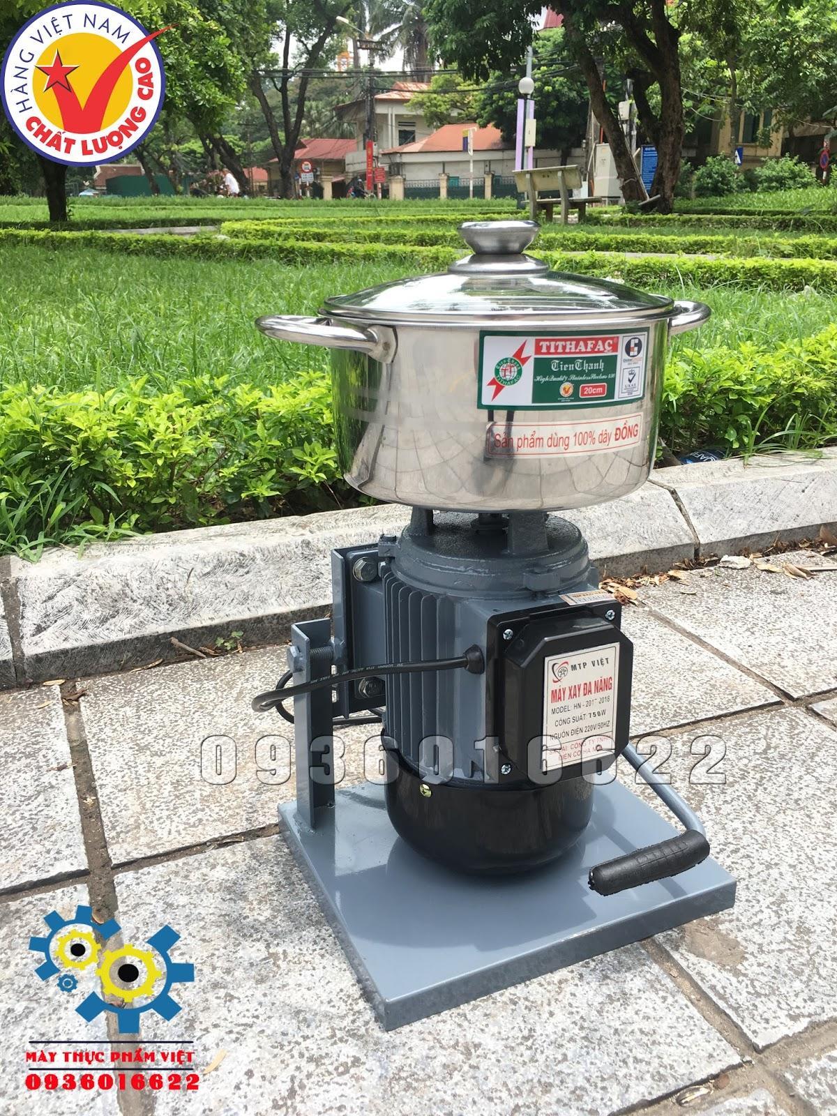 Cối xay thịt công nghiệp mini 750W - Máy xay giò chả mini dùng tại nhà
