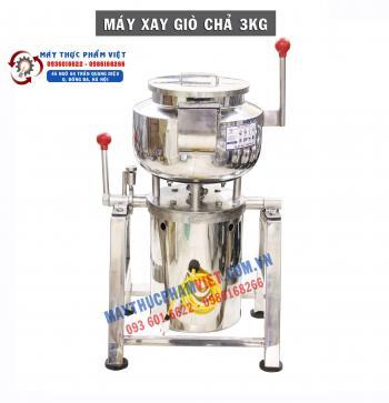 Máy Xay Giò Chả Công Nghiệp 3Kg Bao Đá Tròn